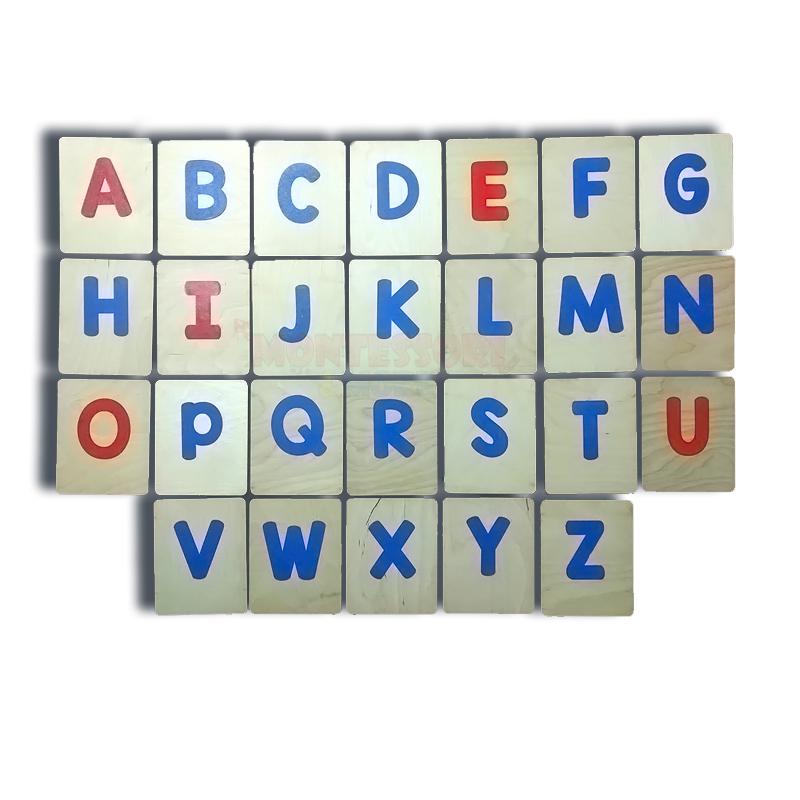 English Sand Capital Letters – Montessori
