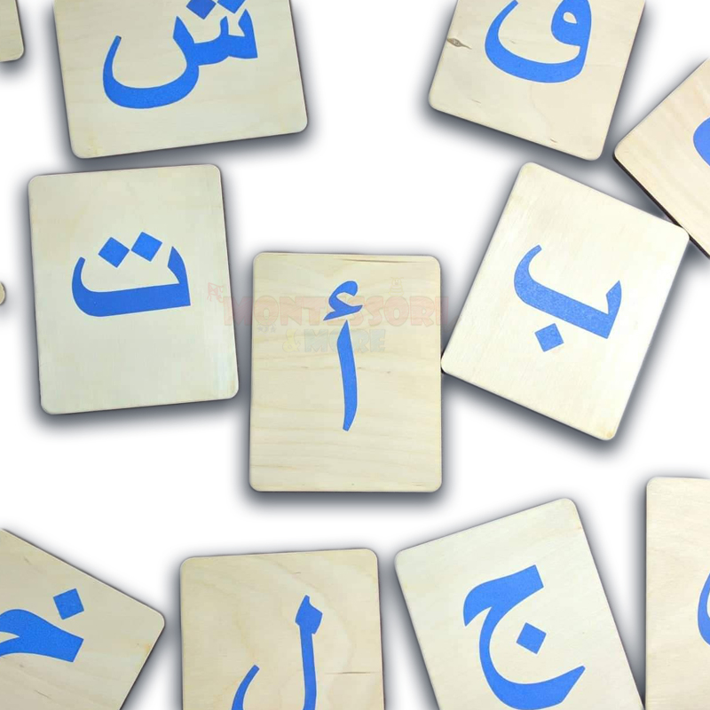 Arabic Letters Sand Cards – Montessori