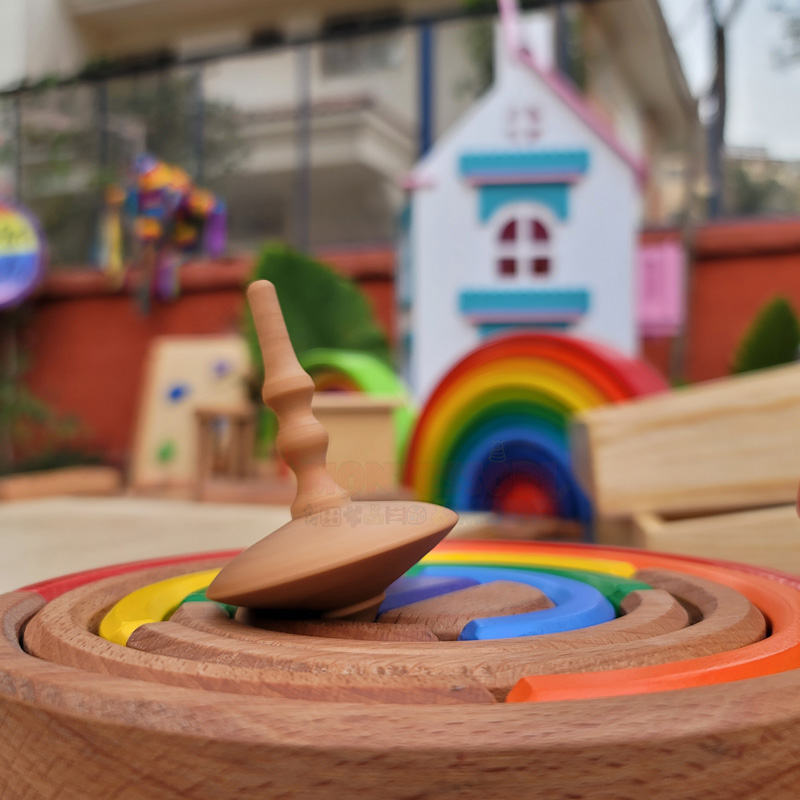 Wooden Spin-top