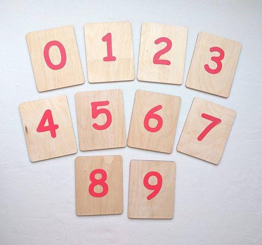 Sand English Numbers Cards – Montessori