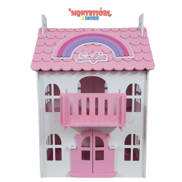 Colored Wooden Doll House