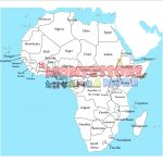 africa with names for print