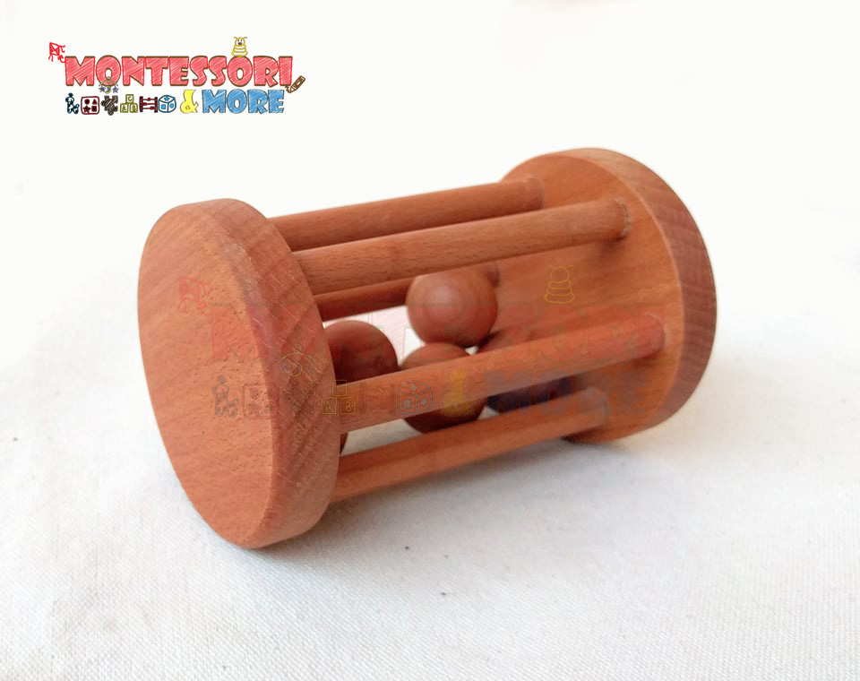 Rolling Wooden Baby Rattle
