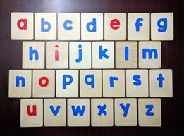 English Small letters sand cards – Montessori