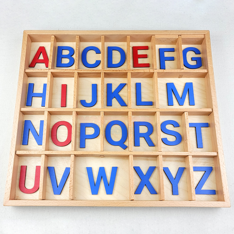 English wooden letters
