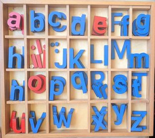 Magnetic wooden English Letters- Montessori