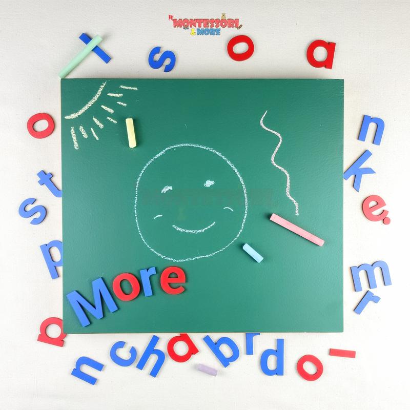 English chalkboard letters