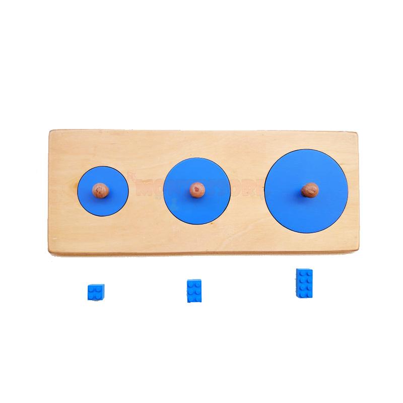 big and small circles Montessori puzzle