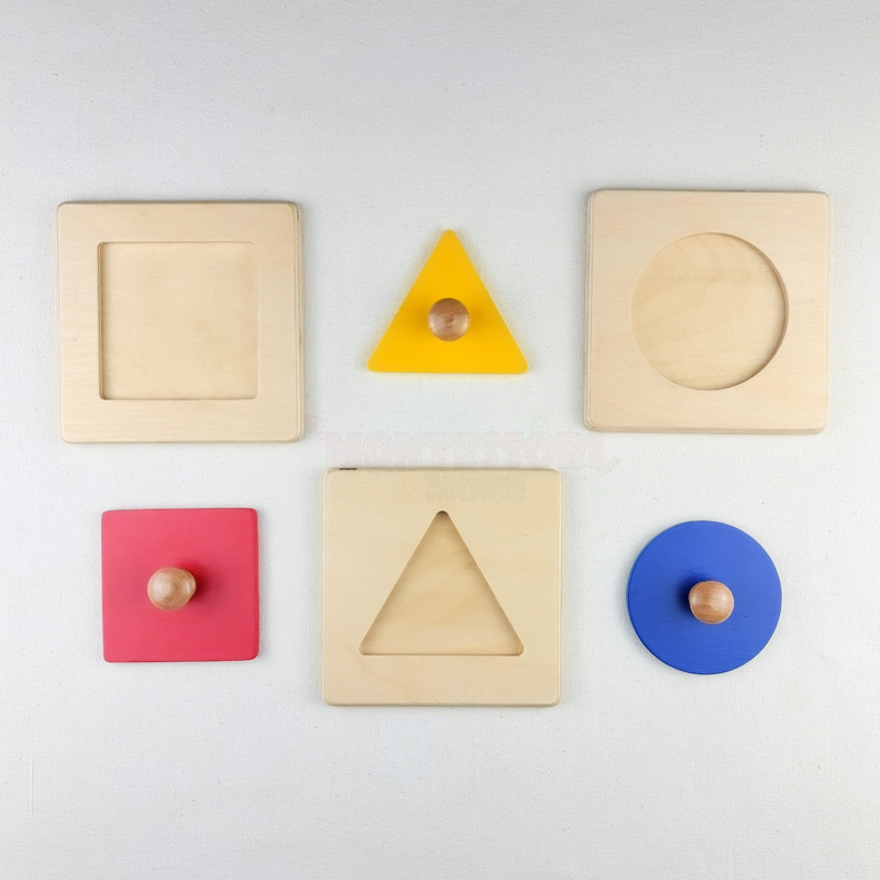 single basic geometric shapes puzzle set