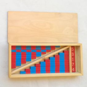 Small red and blue rods – Montessori -Math