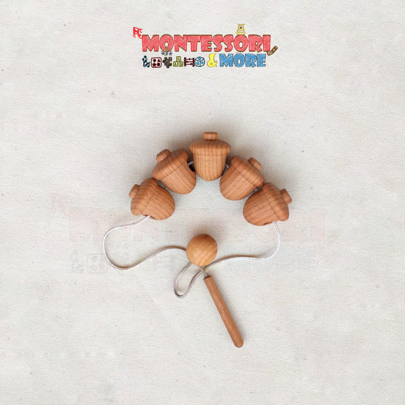 Montessori Lacing wooden shapes toy – infants toys