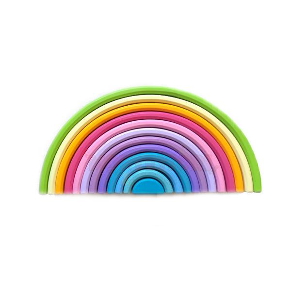 Pastel Large Rainbow – 12 pieces- Waldorf