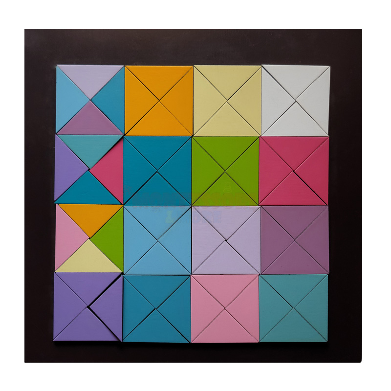 Magnetic Pastel triangles-Waldorf – Open ended Toys