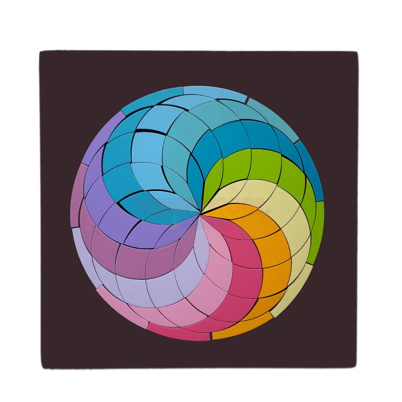 Magnetic Pastel Rainbow circle Mosaic – Waldorf