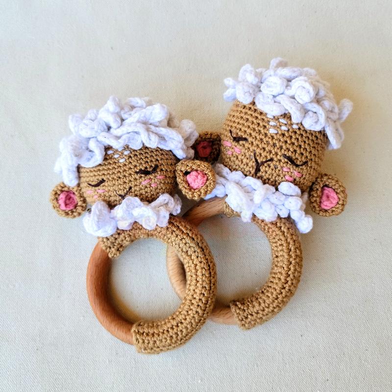 Sheep Teething Ring – soft handmade